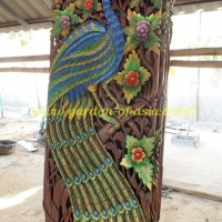 wood-carving-peacock