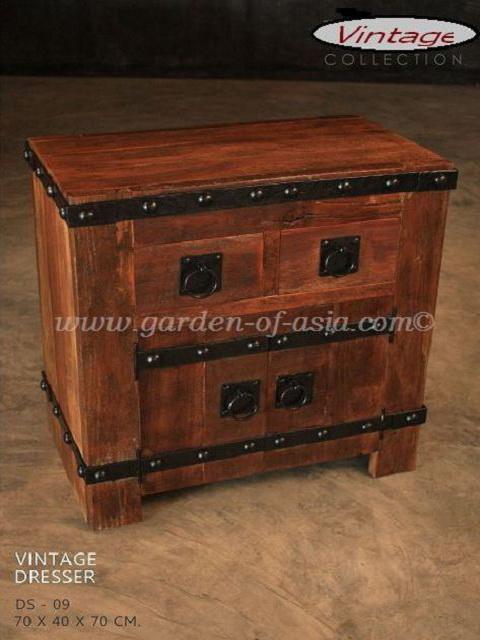 Vintage wood furniture  Garden of Asia