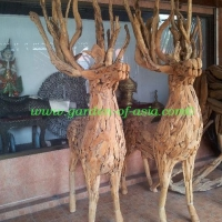 GA Deer wood art
