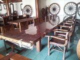 GA big table and chairs