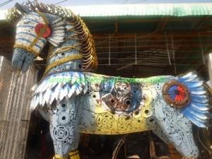 GA steel horse metal art